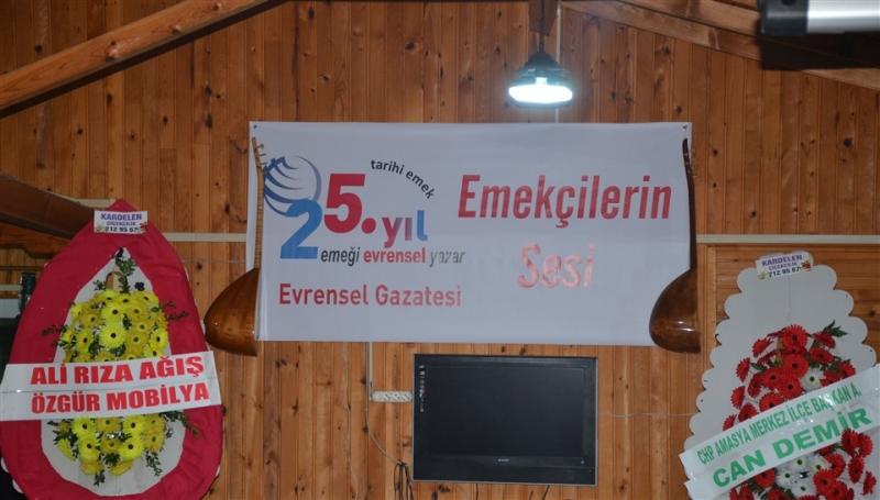 Evrensel Gazetesi Amasya'da 25. Yıl Dayanışma Yemeği Düzenledi