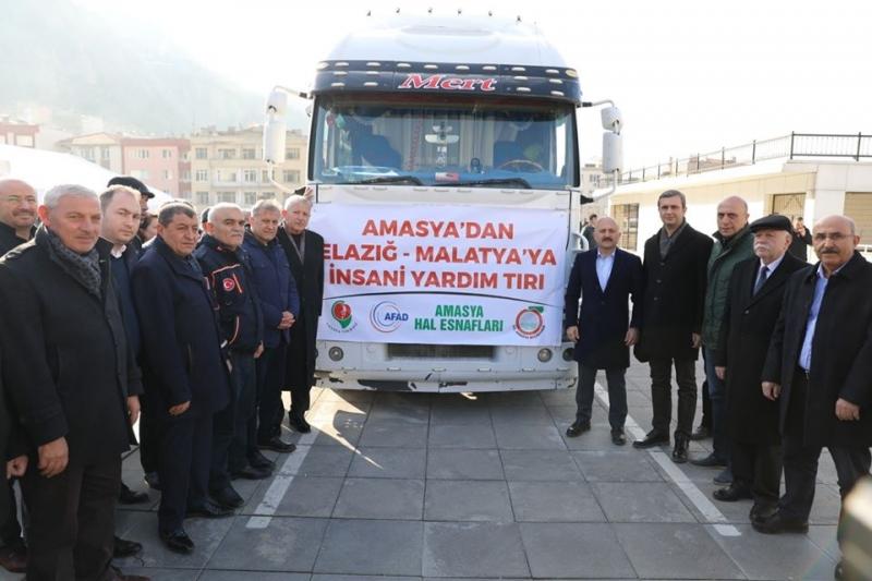 Amasya'dan Elağız ve Malatya'ya Kardeşlik Köprüsü