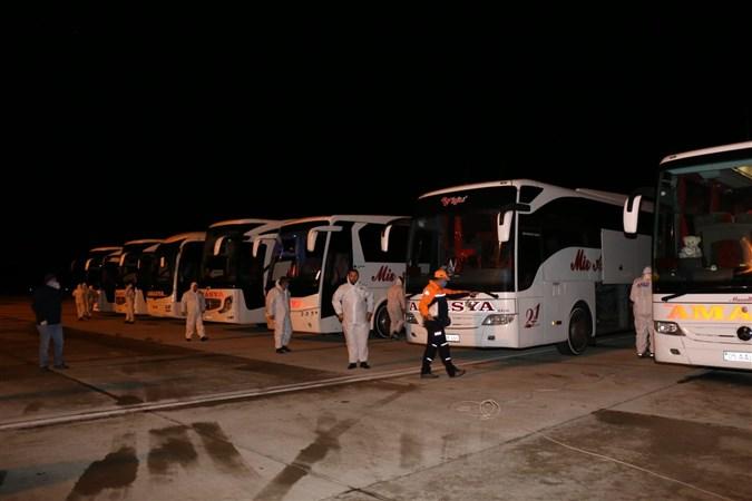 Tahliye Operasyonuyla İspanya'dan 150 vatandaş Amasya'ya Geldi