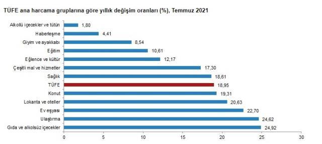 2021 YIlı Enflasyon Oranları