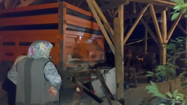 Gümüşhacıköyde Traktörden Römork Çarpması