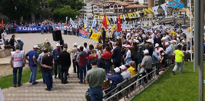 1 Mayıs İşçi ve Emekçi Bayramı Amasya'da kutlandı
