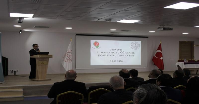 2019-2020 Eğitim Öğretim Yılı II. Dönem İl Hayat Boyu Öğrenme Toplantısı Düzenlendi