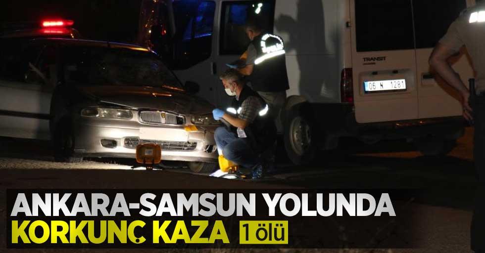 Ankara Samsun yolu Kayaş mevkii Kaza: 1 ölü