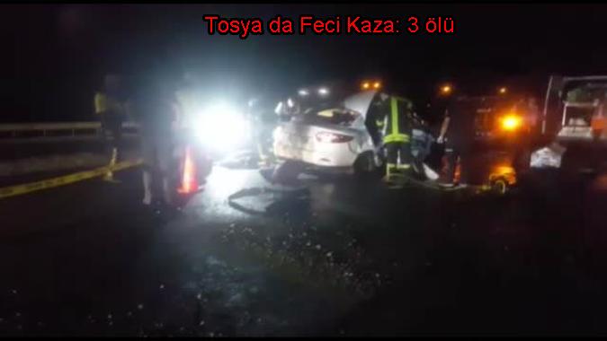 Takla Atan Otomobildeki Kazada 3 kişi hayatını kaybetti