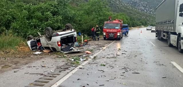 Amasya Yenice mevkiinde kaza:1 ölü 1 yaralı
