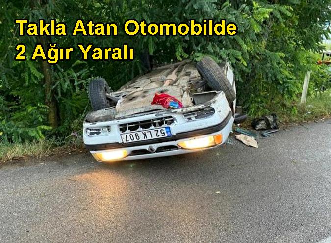 Direksiyon Hakimiyetini Kaybettiği Kazada 2 Ağır, 3 Yaralı