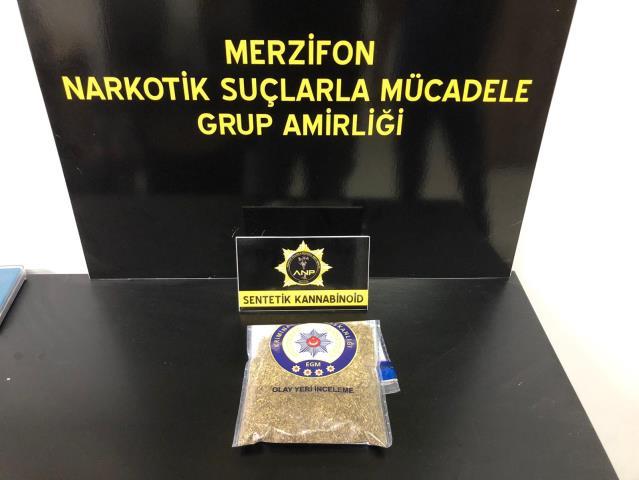 Merzifon da Sentetik Uyuşturucudan Tutuklandılar