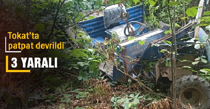 'patpat' isimli tarım aracındaki kazada 3 kişi yaralandı