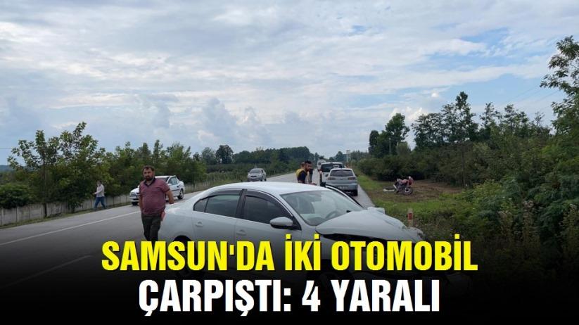 Çarşamba-Salıpazarı Yolunda Kaza:4 Yaralı!