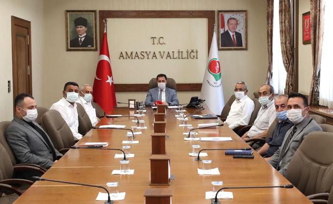 Valimiz Masatlı Tarımsal Sulama Konularının Değerlendirildiği Toplantıya Başkanlık Etti