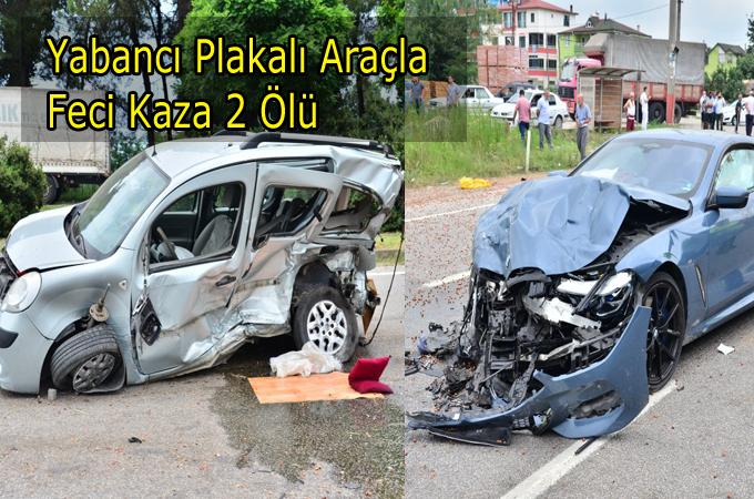 İki Araç Çarpıştığı Feci Kazada:2 Ölü