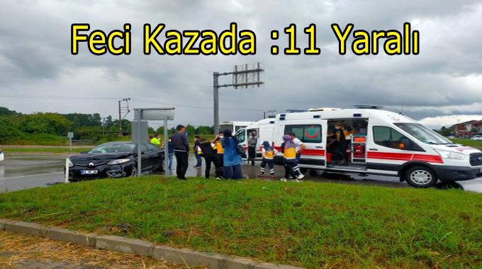 Çarşamba'da Feci Kaza:11 Yaralı