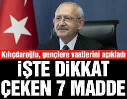 Kılıçdaroğlu'ndan gençlere vaatleri: Otoda ÖTV sıfırlanacak, KYK borçları faizsiz yapılandırılacak