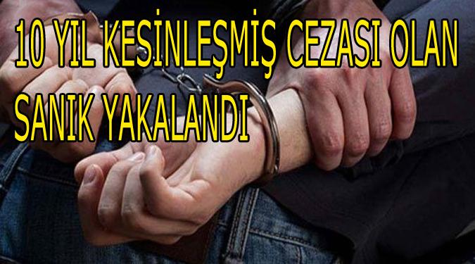 10 Yıl Kesinleşmiş Cezası Olan Sanık Amasya'da Yakalandı