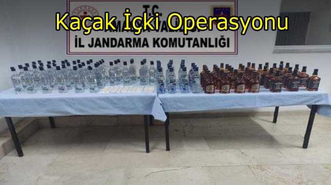 Jandarmadan kaçak alkol ve sahte bandrol operasyonu