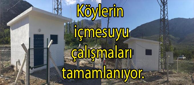 Yassıçal Köyü içme suyu çalışması tamamlandı