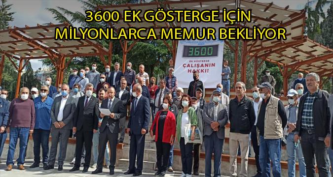 3600 EK GÖSTERGEYİ MİLYONLARCA MEMUR  BEKLİYOR