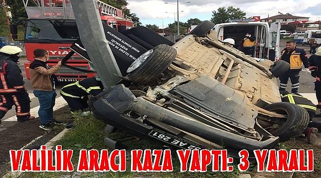 Valilik aracı kaza yaptı: 3 yaralı var