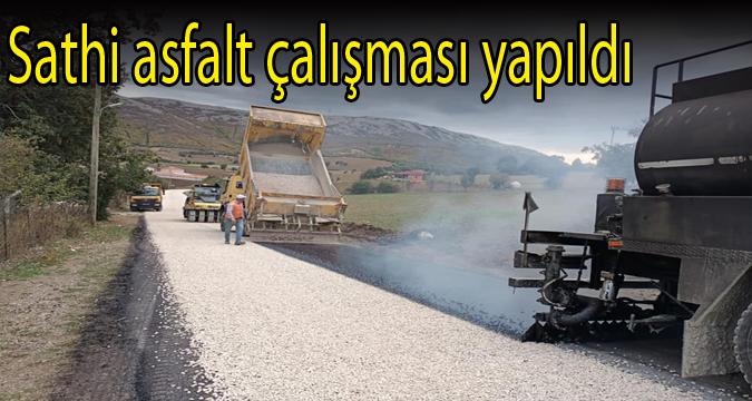 Sathi asfalt çalışması yapıldı