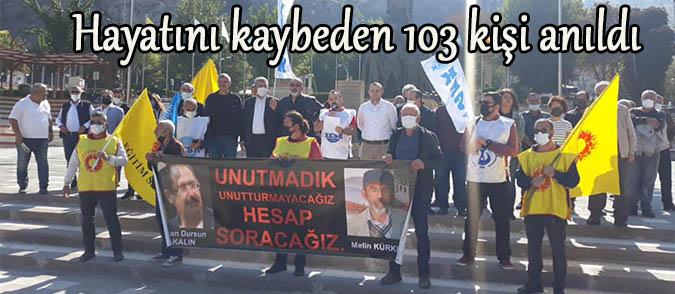 Ankara Gar saldırısının 5. yılı: Hayatını kaybeden 103 kişi anıldı