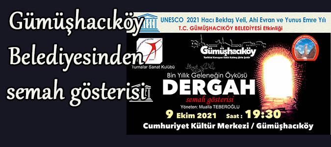 Gümüşhacıköy Belediyesinden SEMAH