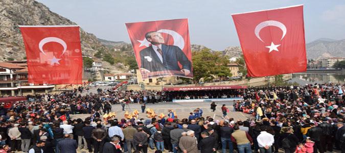 29 Ekim Cumhuriyet Bayramı, Amasya Yavuz Selim Meydanında Coşkuyla Kutlandı