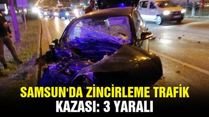 5 aracın karıştığı zincirleme trafik kazasında 3 kişi yaralandı.