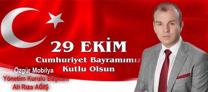 Ali Rıza AĞIŞ Cumhuriyet Bayramı Mesajı