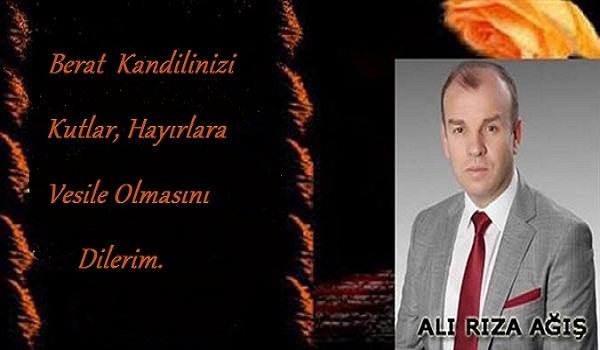 Ali Rıza AĞIŞ Kutlama Mesajı