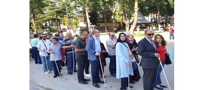 Altı Nokta Körler Derneği Amasya Şube Başkanı Musa Demiryarar Basın Açıklaması