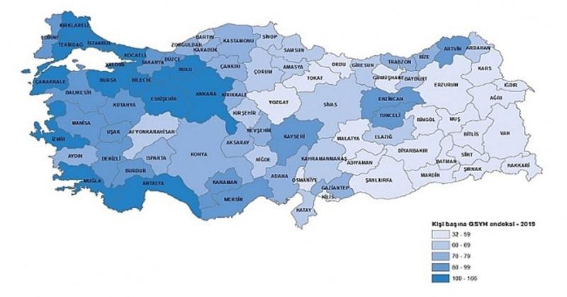 Amasya 2019 GSYH'da 57. Sırada Yer Aldı