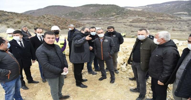 Amasya Aydınca Barajında Çalışmalar Devam Ediyor