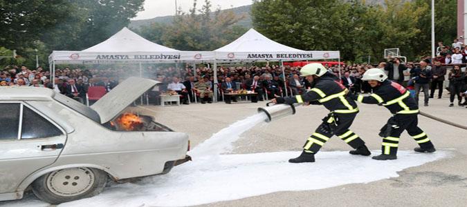 Amasya Belediyesi İtfaiye Ekiplerinden İtfaiye Haftası Etkinliği