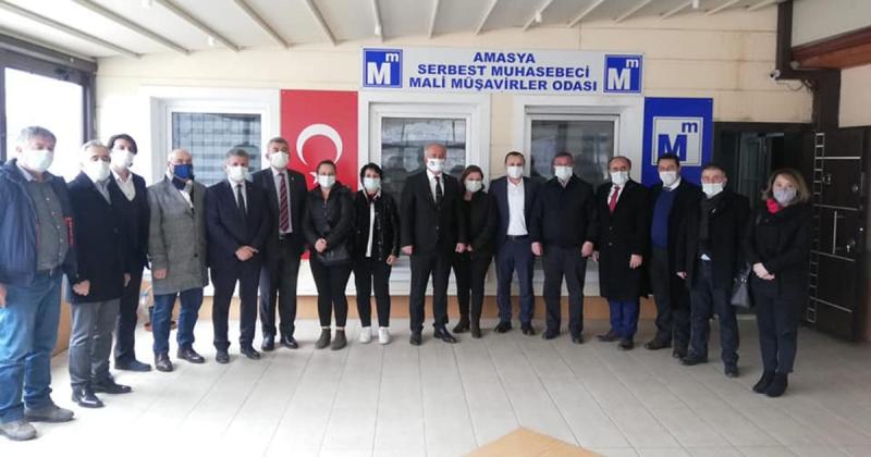 Amasya CHP Heyeti, Muhasebeciler ve Mali Müşavirler Odasını Ziyaret Etti