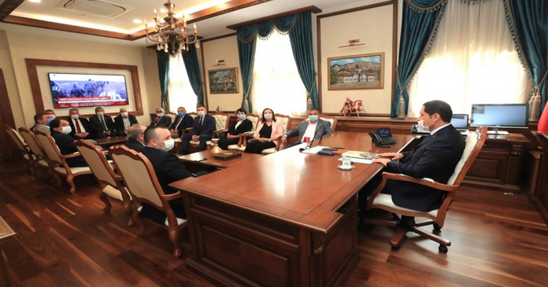 Amasya CHP Heyetinden,Vali Masatlıya Hayırlı olsun Ziyareti