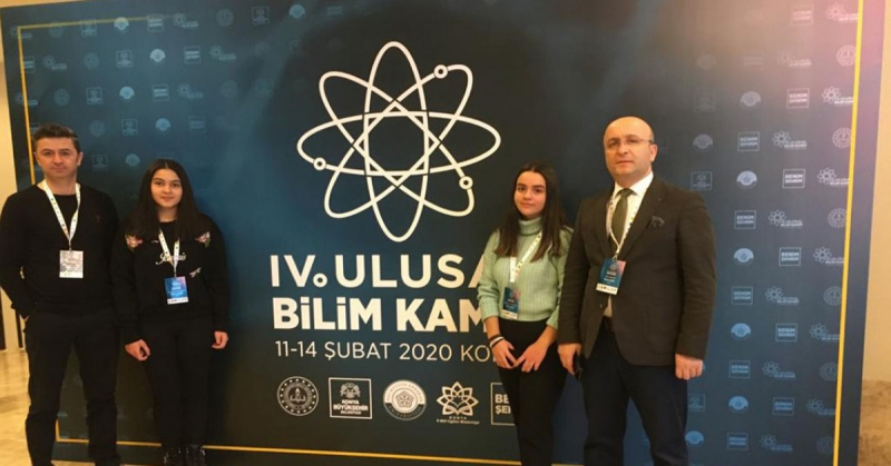 Amasya Macit Zeren Fen lisesi Dördüncü Ulusal Fen Lisesi Bilim Kampında İlimizi Temsil ediyor