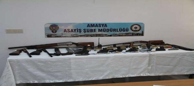 Amasya Merkezli Silah Kaçakçılığı Operasyonu: 16 Gözaltı