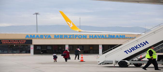 Amasya Merzifon Havalimanında Ekim ayında 14037 Yolcuya Hizmet Verildi