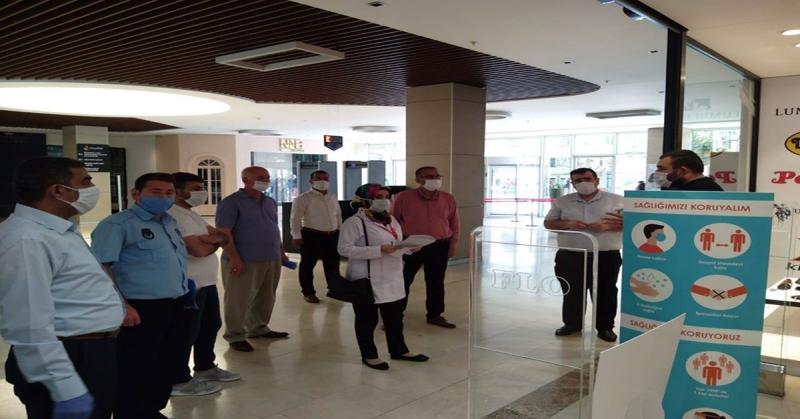 Amasya Park AVM'de Hijyen ve Tedbir Uygulamaları Denetlendi