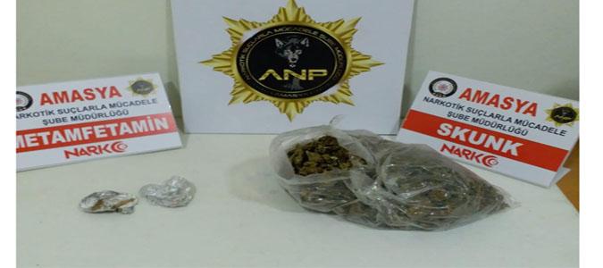 Amasya Polisinden Uyuşturucuya Geçit Yok