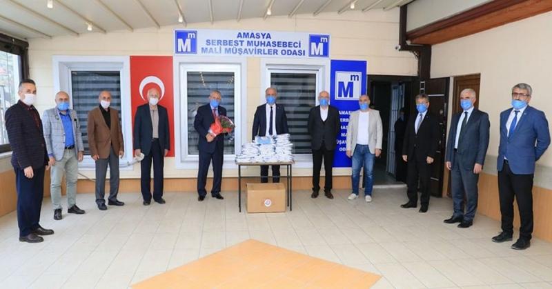 Amasya SMMO'dan Başkan Sarı'ya Teşekkür