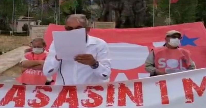 Amasya Sol Parti 1 Mayıs Emek ve Dayanışma Günü Dolayısıyla Basın Açıklaması Yaptı