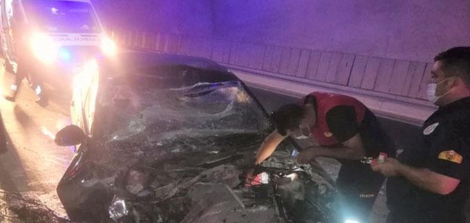 Amasya T1 Tünelinde Kaza 1Kişi Hayatını Kaybetti