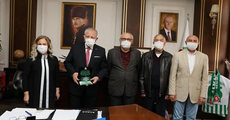 Amasya TEMA'dan, Başkan Sarı'ya Ziyaret