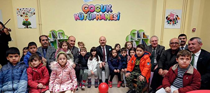 Amasya Üniversitesi Çocuk Kütüphanesi açılış yapıldı