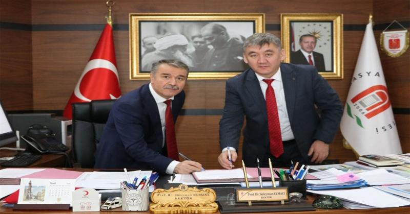 Amasya Üniversitesi ile Kırgızistan Osh Devlet Üniversitesi Arasında Protokol İmzalandı