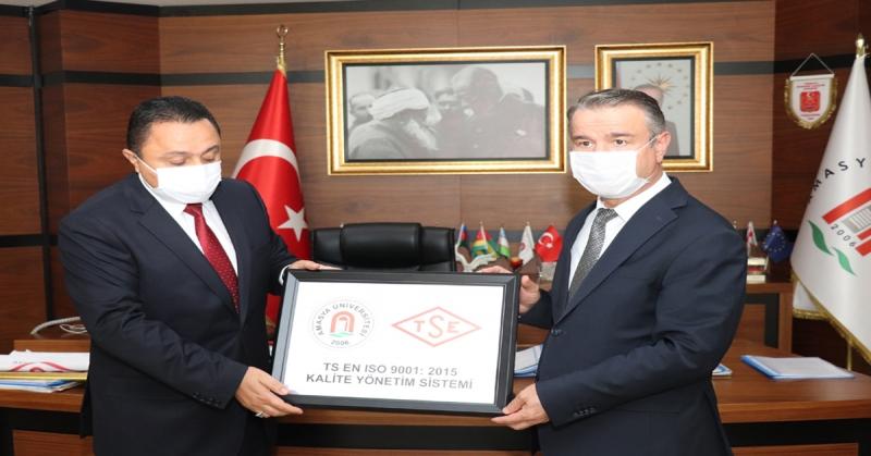 Amasya Üniversitesi ISO:9001 Kalite Belgesini Almaya Hak Kazandı