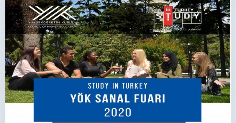 """Amasya Üniversitesi """"Study in Turkey YÖK Sanal Fuarı 2020""""de Yerini Aldı"""