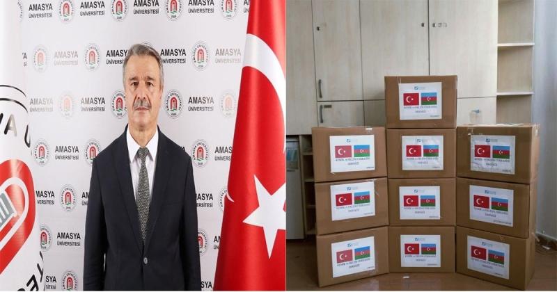 Amasya Üniversitesi'nden Kardeş Azerbaycan'a Yardım Eli